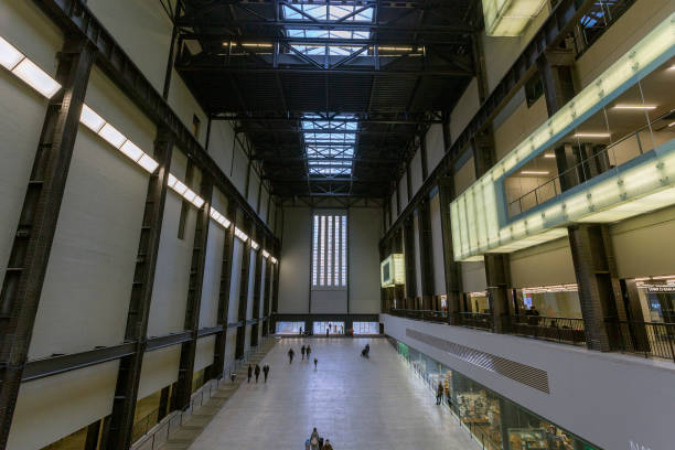 The Turbine Hall of the Tate Modern museum in London stock photo