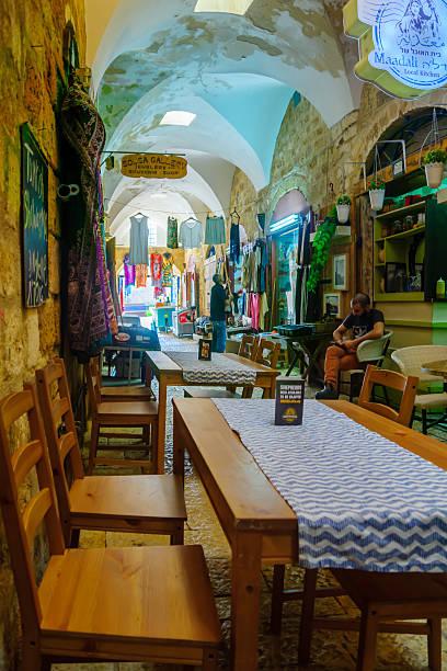 The Turkish Bazaar, Acre stock photo