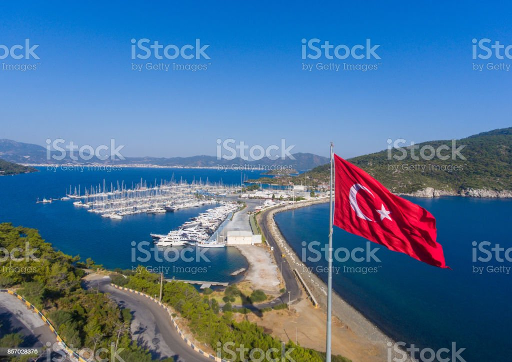 The Turkish resort seaside landscape stock photo
