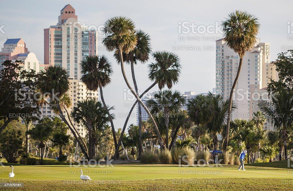 The Turnberry Golf Course in Aventura, Miami suburb, Florida royalty-free stock photo