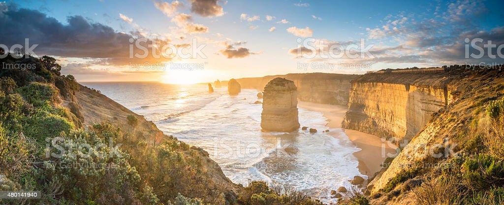 The Twelve Apostle at great ocean road, Melbourne, Victoria, Australia. stock photo