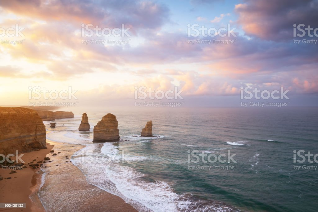 The Twelve Apostles along the Great Ocean Road, Victoria, Australia royalty-free stock photo
