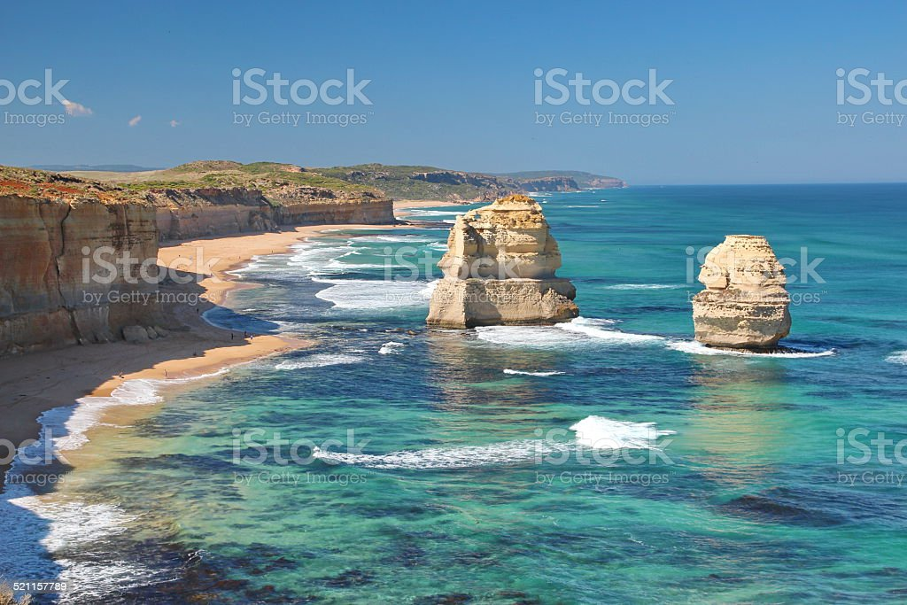 The Twelve Apostles, Australia stock photo