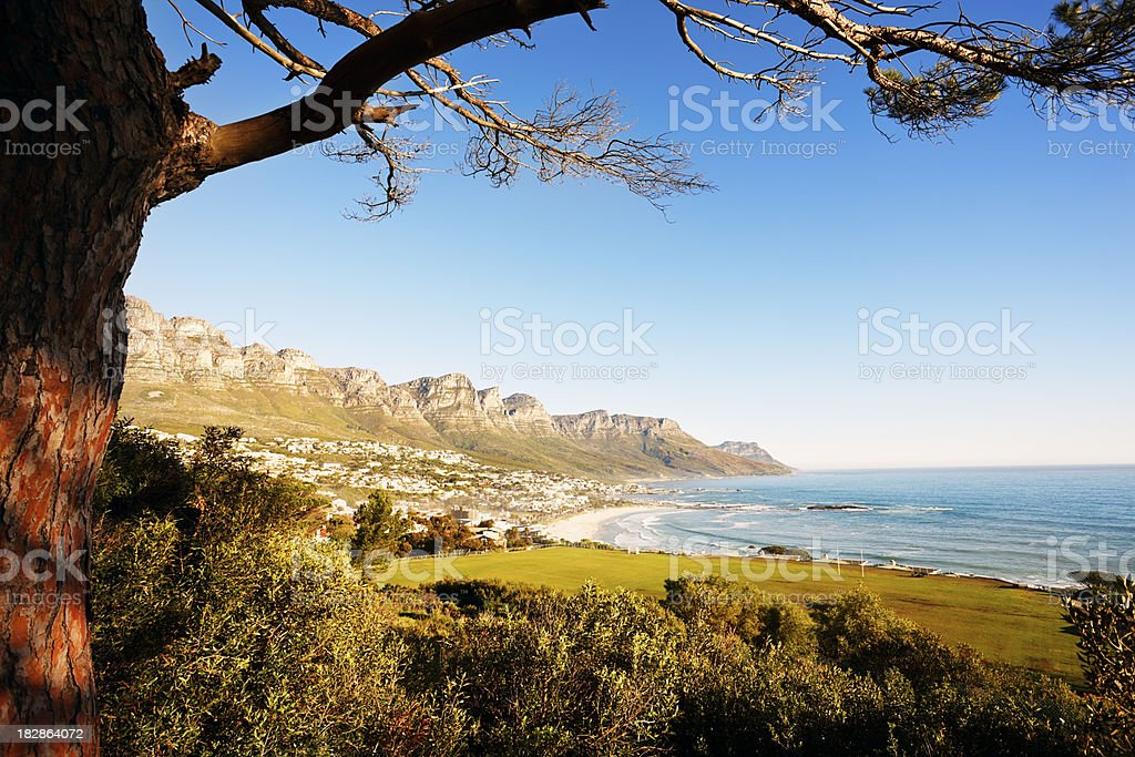 The Twelve Apostles range, Cape Town, South Africa royalty-free stock photo