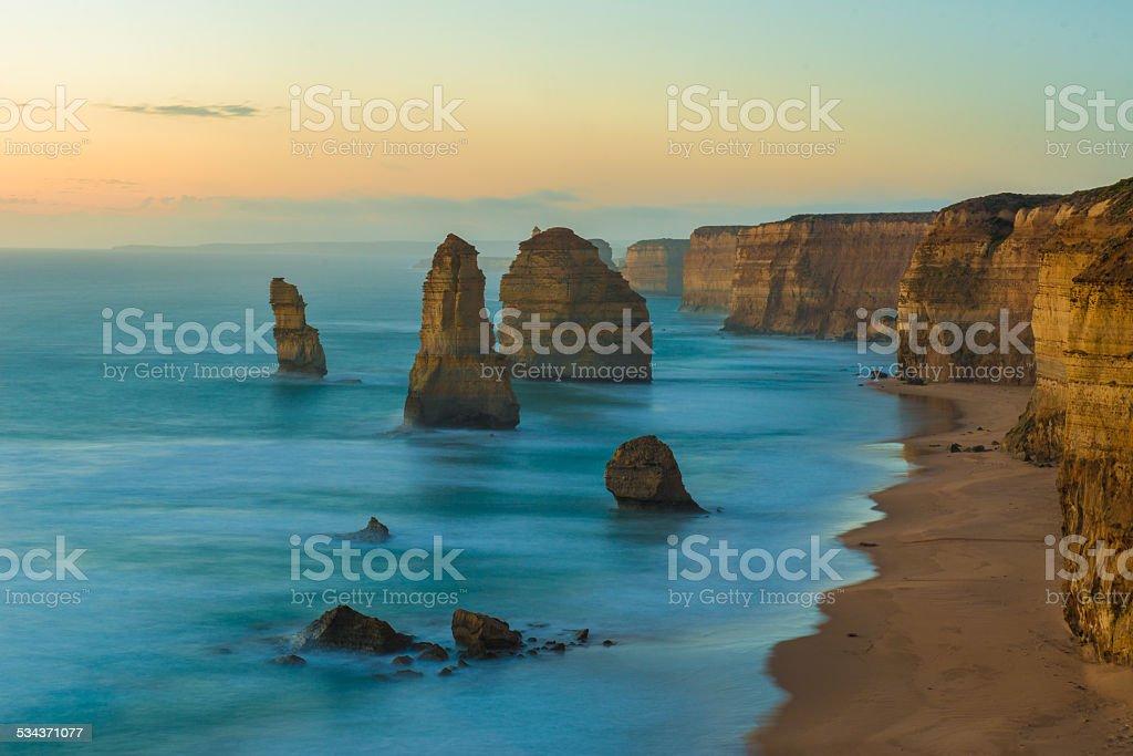 the Twelve Apostles, Victoria,Australia stock photo