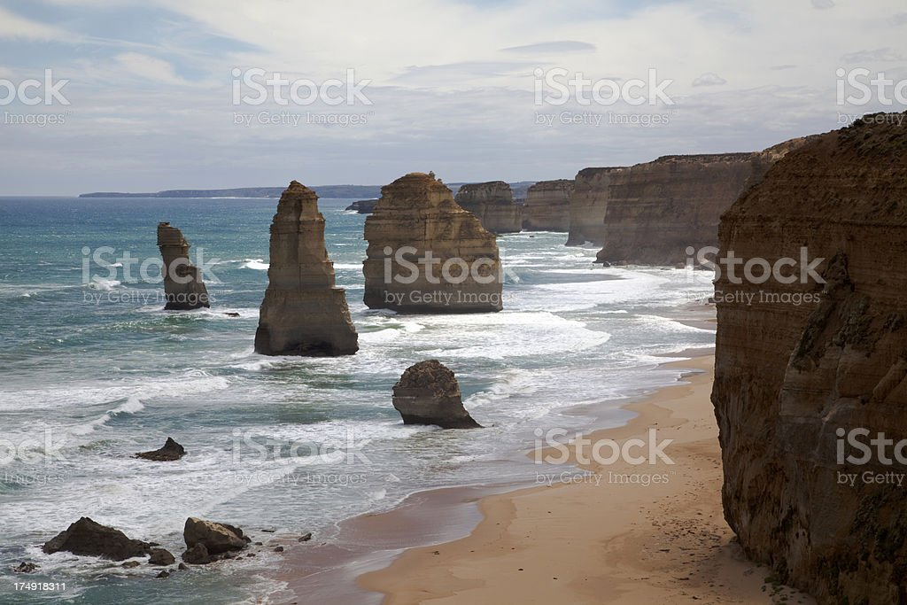 The Twelve Apostles, west of look-out stock photo