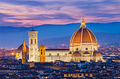 The twilight of Florence in Tuscany, Italy.