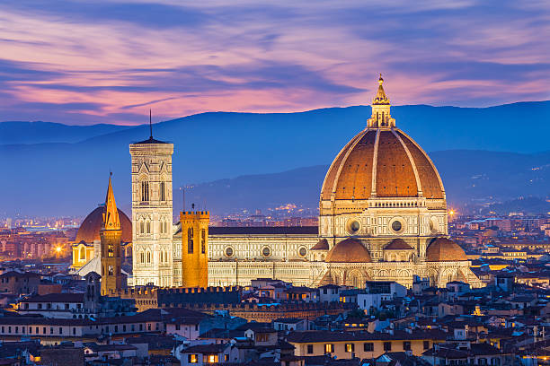 The twilight of Florence in Tuscany, Italy The twilight of Florence in Tuscany, Italy. florence italy stock pictures, royalty-free photos & images