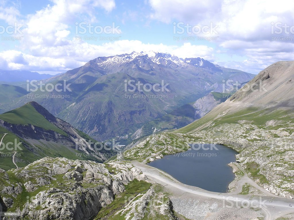Les deux Alpes - France stock photo