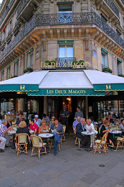 Les Deux Magots stock photo