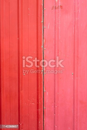 istock The two shade of red zinc stripe. It's metal sheet for decorated. 1140368657