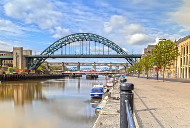 The Tyne Bridge in Newcastle upon Tyne in Great Britain stock photo