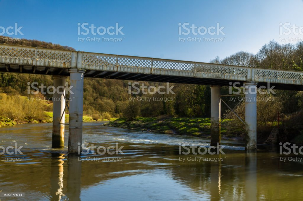 The Ugly Bridge, Brockweir stock photo