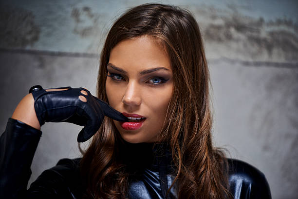The ultimate bad girl stock photo