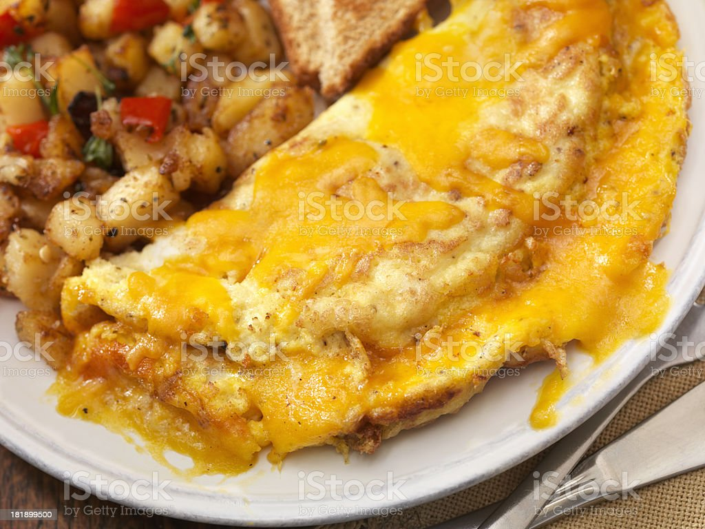 The Ultimate Cheddar Cheese Omelette royalty-free stock photo