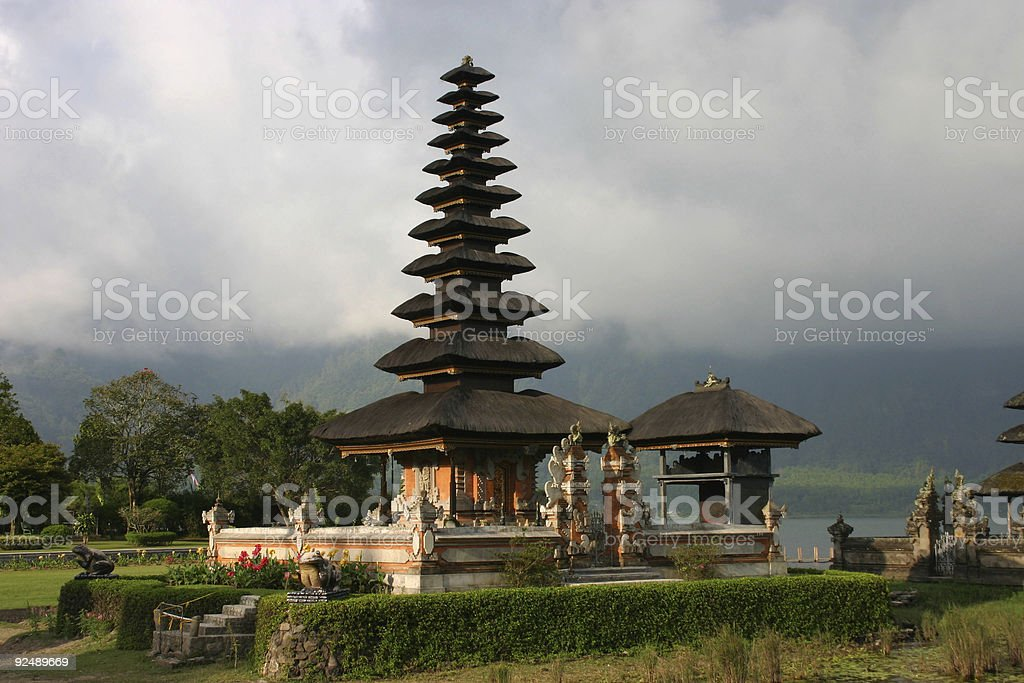 The Ulun Danau Temple, Bali, Indonesia royalty-free stock photo