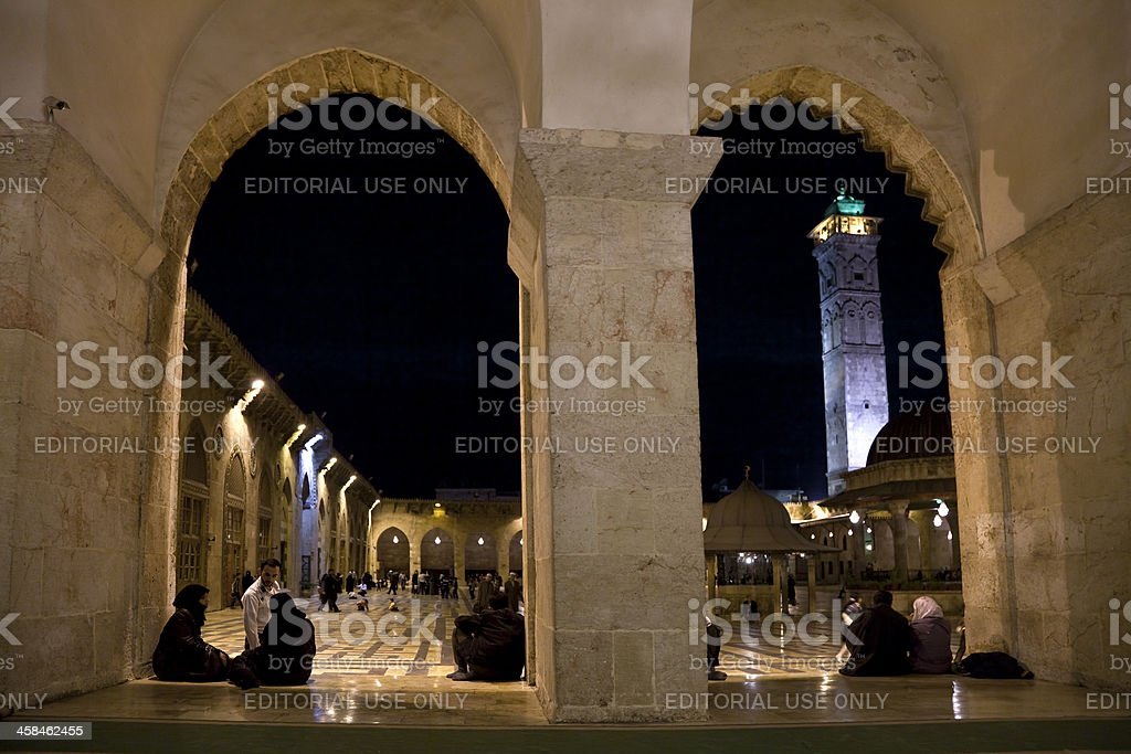 The Umayyad Mosque stock photo