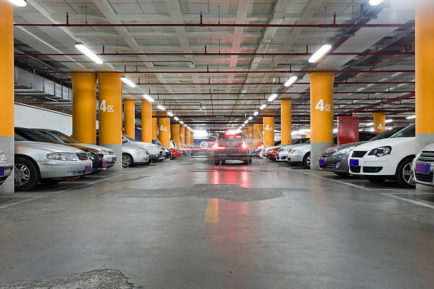 The underground garage stock photo
