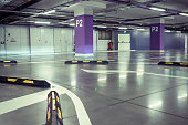 The underground parking for cars