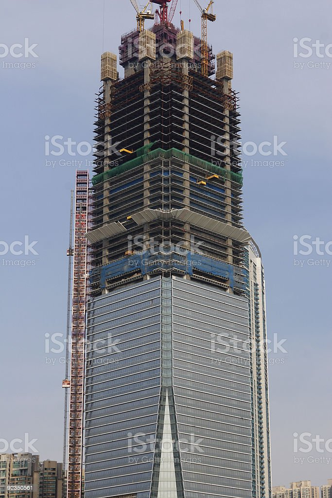 The unfinished International Commerce Centre in Hong Kong royalty-free stock photo