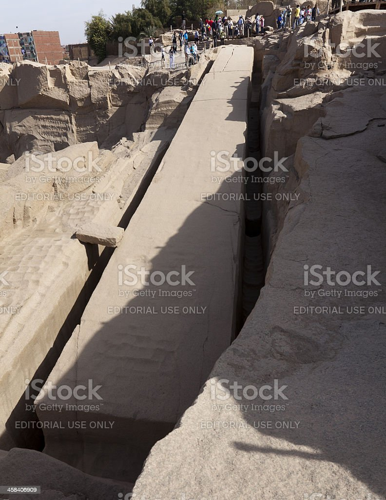 The Unfinished Obelisk of Aswan stock photo
