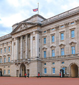 istock The Union Jack flag at Buckingham Palace is flying at half mast in London, UK 1311849493