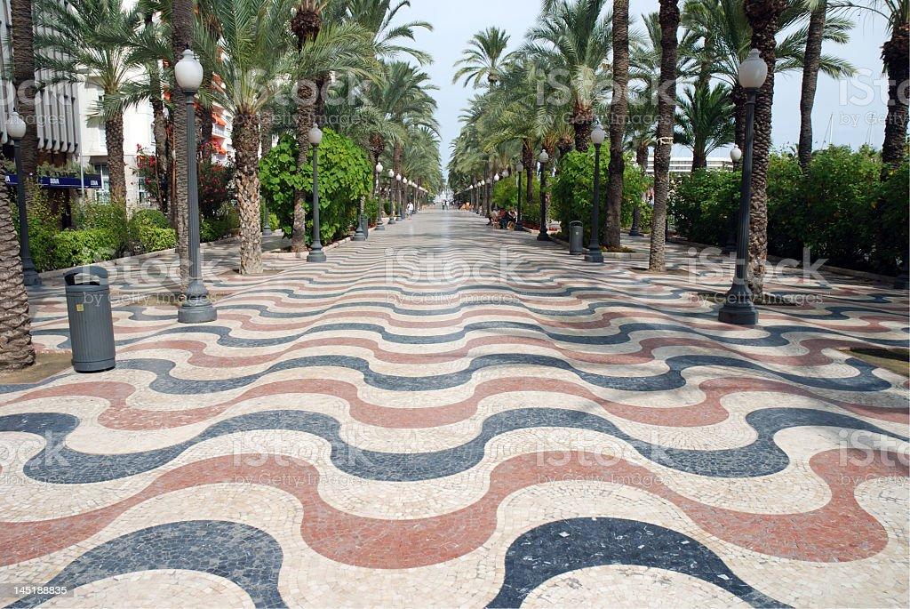 Explanada de Espana in Alicante, Spanien – Foto
