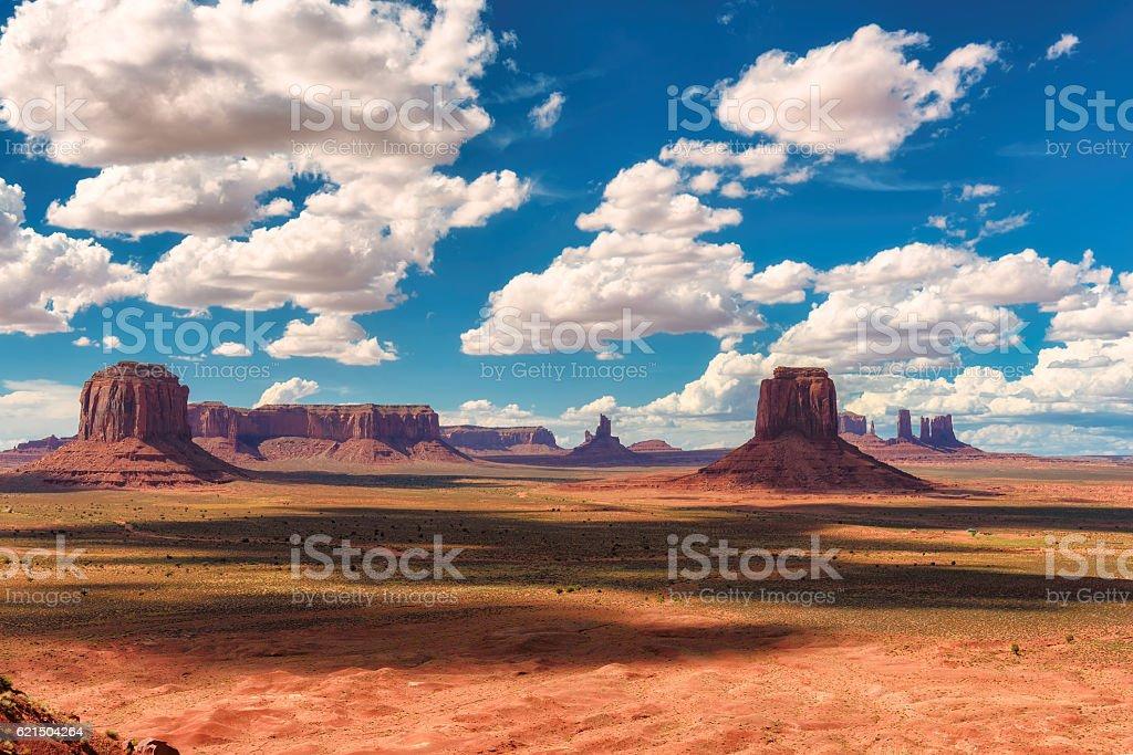 The unique landscape of Monument Valley, Utah stock photo