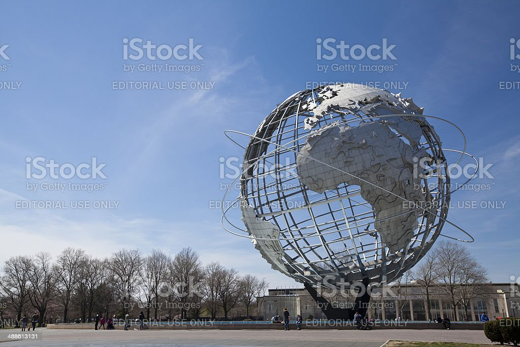 The Unisphere in Flushing Meadows at New York City stock photo