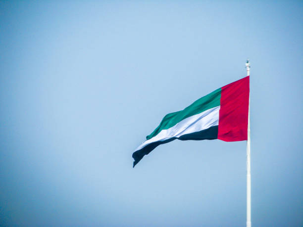 阿聯酋國旗揮舞著 - uae national day 個照片及圖片檔