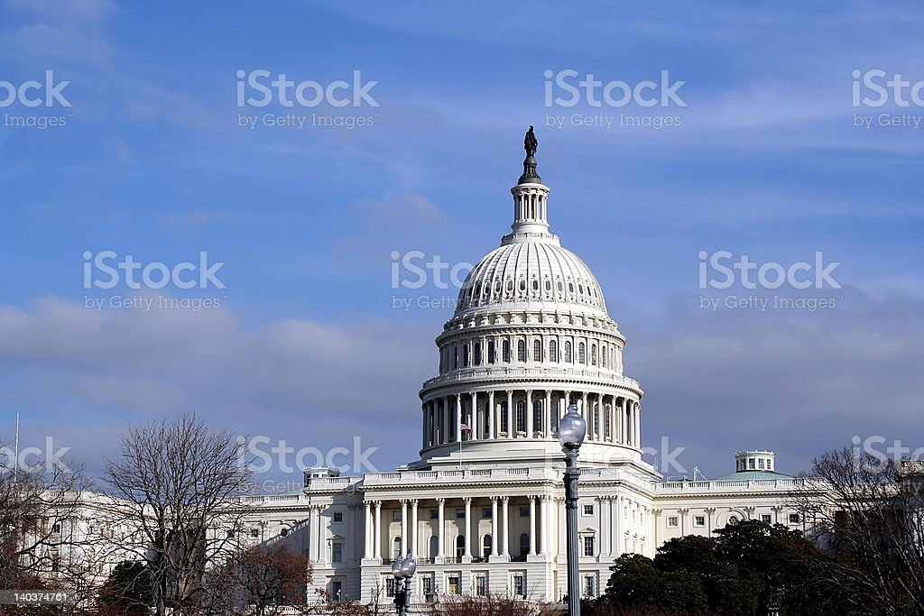 The United State Capitol royalty-free stock photo