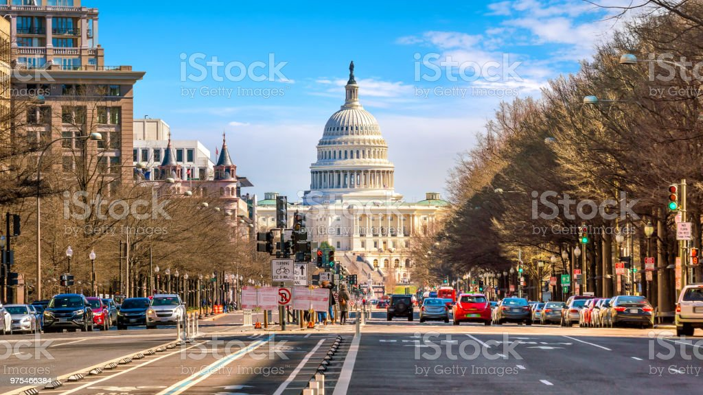 The United States Capitol building DC stock photo