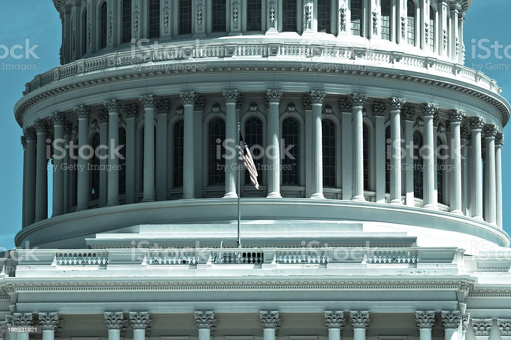 The United States Capitol Building dome, Washington DC stock photo