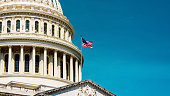 istock The United States,  Capitol Dome background in retro style 1225009218