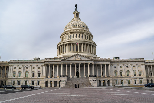 Close view of the Capitol, at Washington D. C.