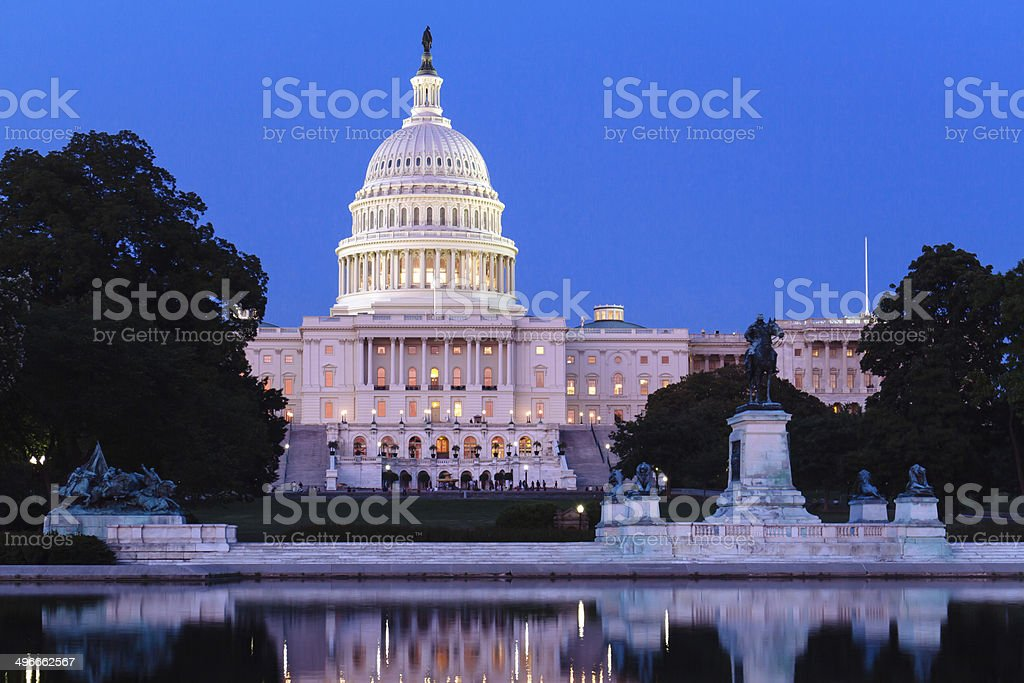 The United States Capitol. stock photo
