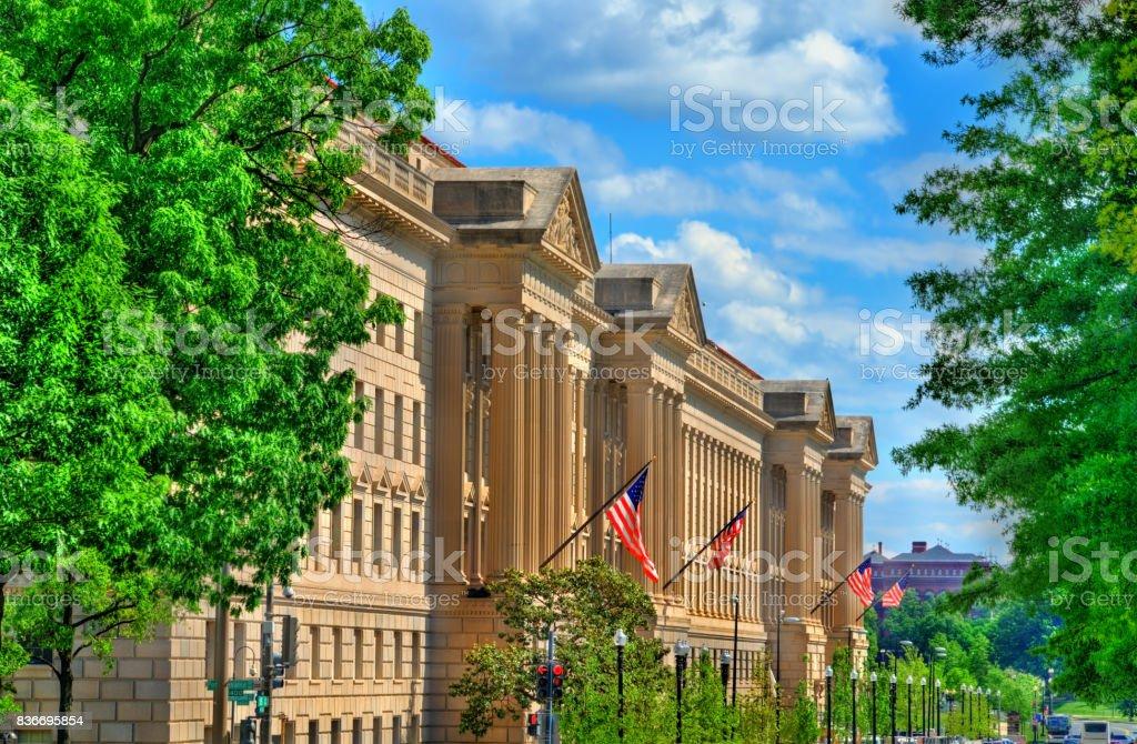 El Departamento de comercio de Estados Unidos en Washington, D.C. - foto de stock