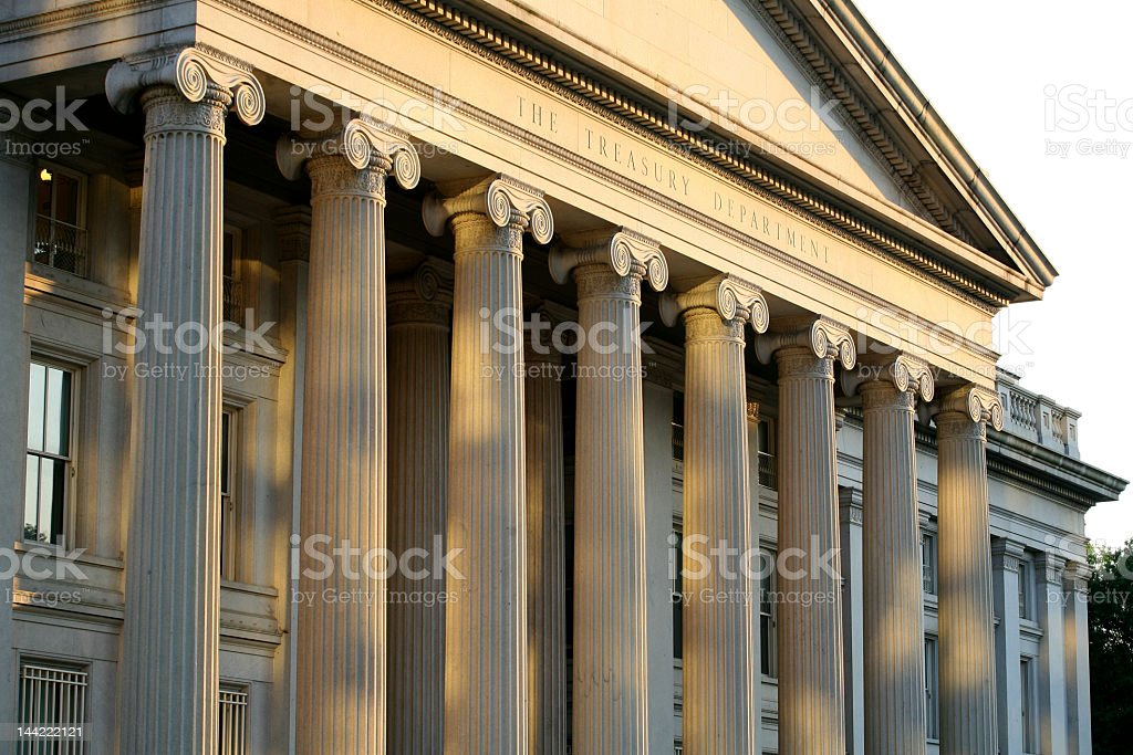 The United States Department of Treasury  royalty-free stock photo