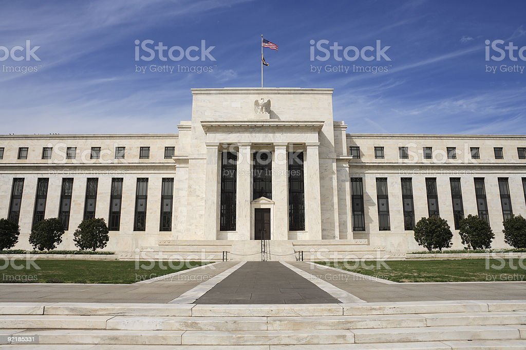 The United States Federal Reserve in Washington, DC stock photo