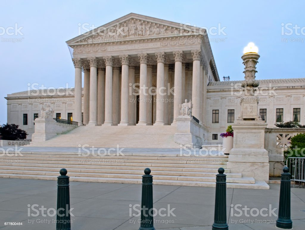 The United States Supreme Court royalty-free stock photo