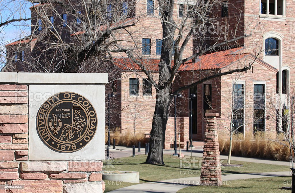 The University of Colorado Boulder stock photo