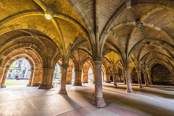 The University of Glasgow Cloisters, added grain effect. – Foto