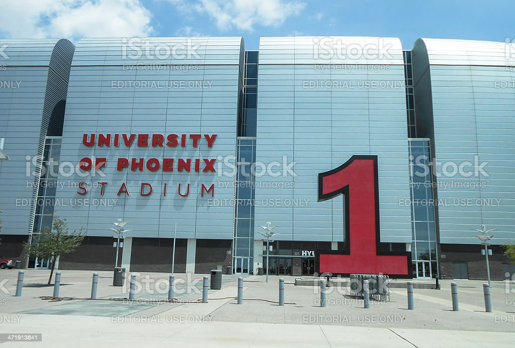 The University of Phoenix Stadium in Glendale stock photo