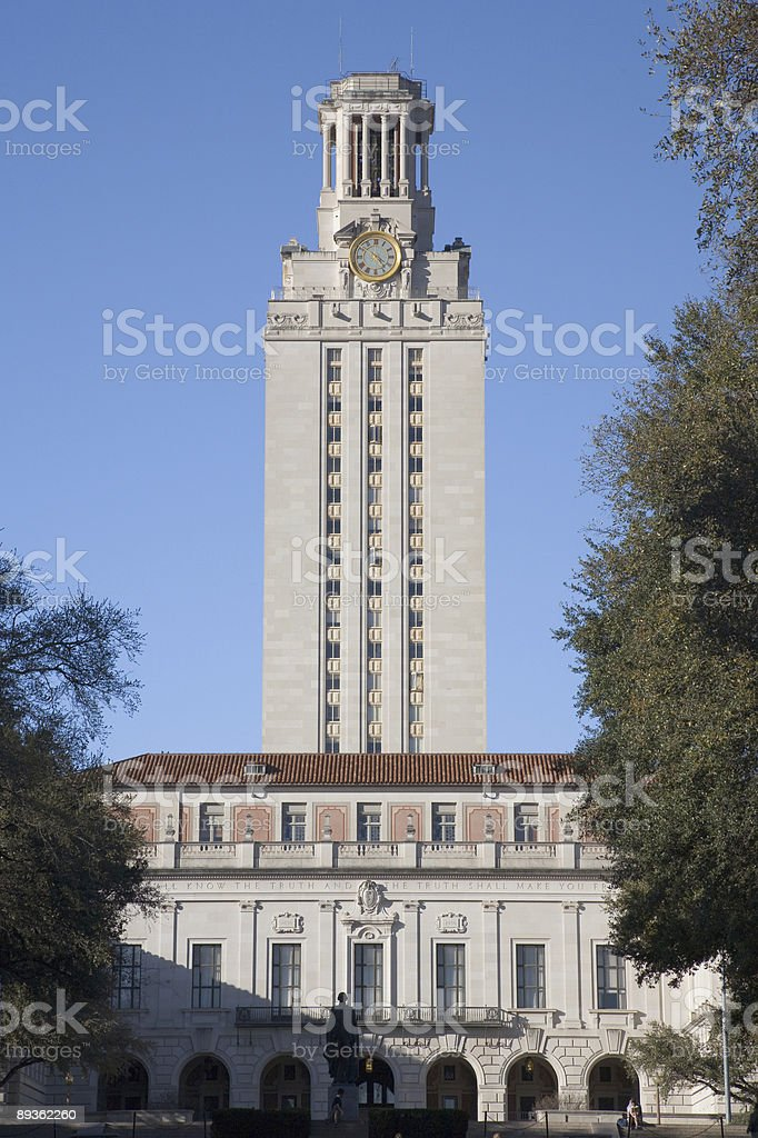 The University of Texas Tower - Distant Portrait royalty-free stock photo