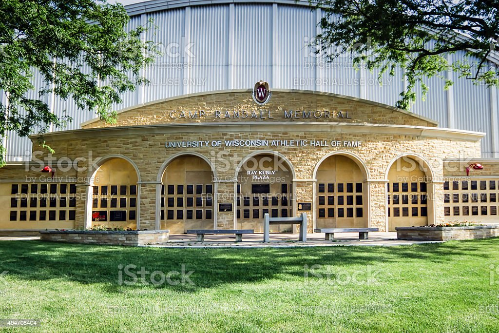 The University of Wisconsin Athletic Hall of Fame building. stock photo
