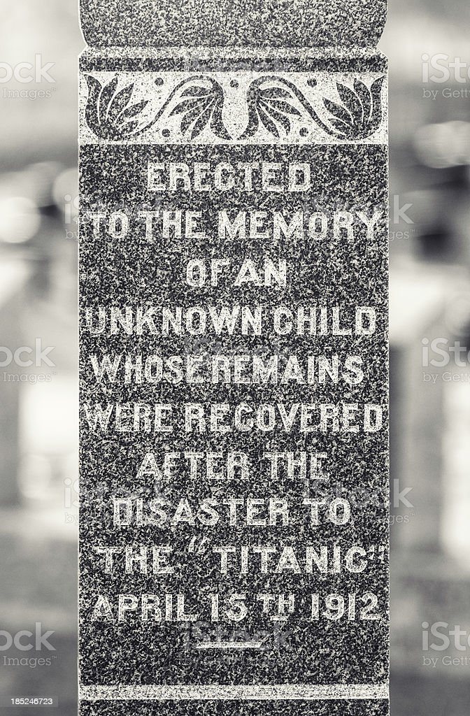 The Unknown Child stock photo