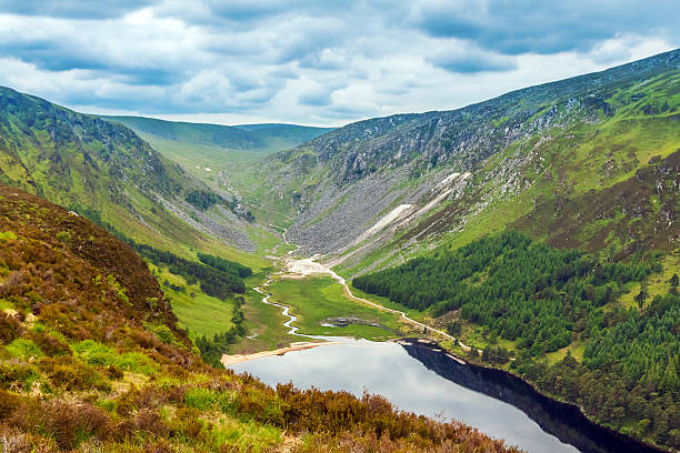 The Upper Lake in Glendalough, County Wicklow, Ireland stock photo