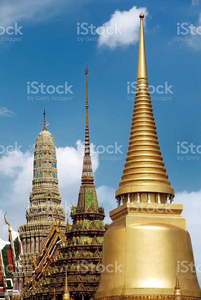 The upper terrace of Grand Palace, Bangkok, Thailand royalty-free stock photo