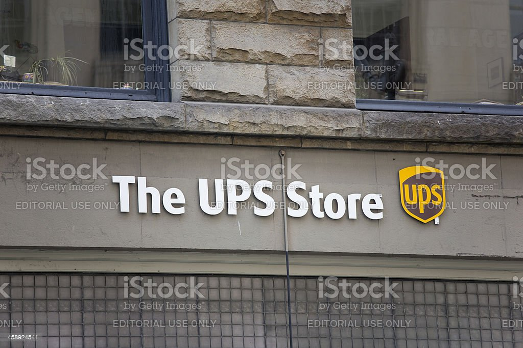 The UPS Store downtown Seattle stock photo