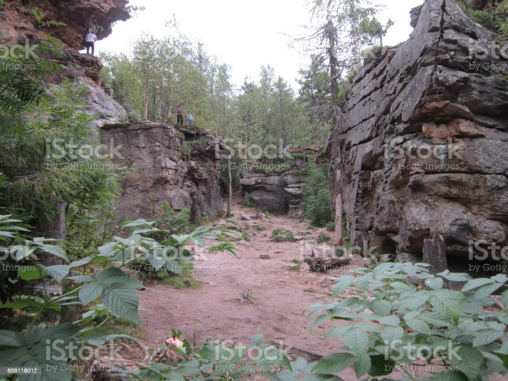 The Ural Mountains stock photo